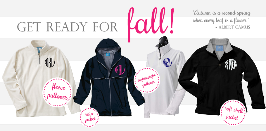 Monogrammed Fall Apparel